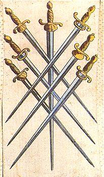 Resultado de imagem para seven swords tarot